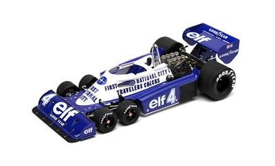 Tyrrell P34 GP. Mónaco nº 4 Patrick Depailler (1977) True Scale 1:18
