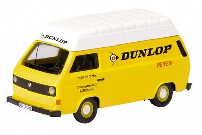 """Volkswagen T3 """"Dunlop"""" Kasten-Hochdach"""" (1980) Schuco 1/87"""