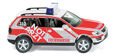 "Volkswagen Touareg Bomberos ""NOTARTZ 112"" Wiking 06011433 1/87"
