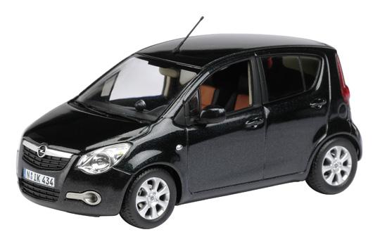 Opel Agila (2007) Schuco 1/43 Negro