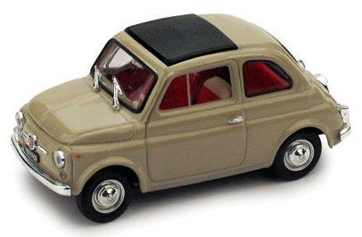 Fiat 500F Techo Cerrado (1965) Brumm 1/43 Beige Arena
