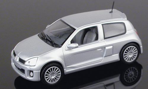 Renault Clio V6 Serie 2 (2000) Universal Hobbies 1/43 Gris Metalizado