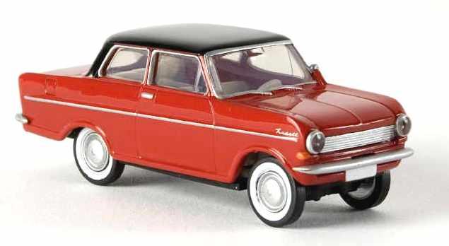 Opel Kadett A (1962) Brekina 1/87 Rojo T. Negro