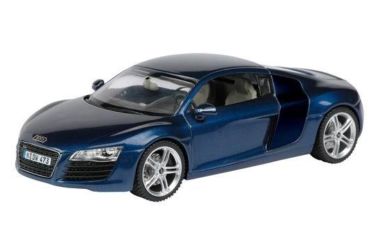 Audi R8 (2007) Schuco 1/43 Azul Metalizado