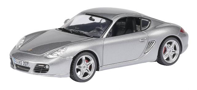 Porsche Cayman Serie 2 (2008) Schuco 1/43 Gris Metalizado