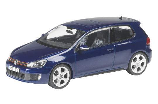 Volkswagen Golf Serie 6 GTI (2008) Schuco 1/43 Azul Oscuro