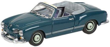 Volkswagen Karmann Ghia Cabriolet (1957) Minichamps 1/43 Azul Metalizado