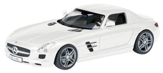 Mercedes Benz SLS AMG C197 (2010) Schuco 1/43 Blanco
