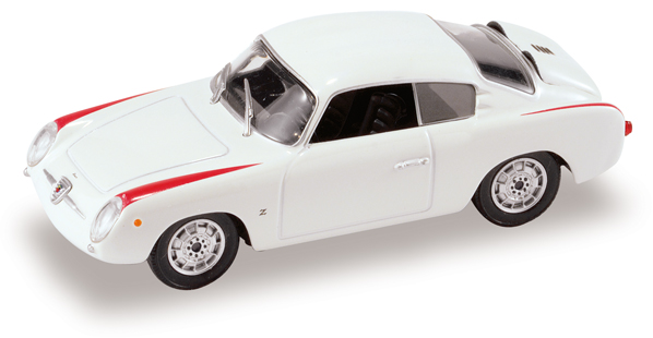 Fiat Abarth 750 Coupé (1956) Starline 1/43 Blanco - Rojo
