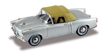 Fiat 1100 TV Cabriolet Cerrado (1956) Starline 1/43 Gris Plata