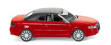 Audi A4 Cabriolet Cerrado Wiking 1/87 Rojo