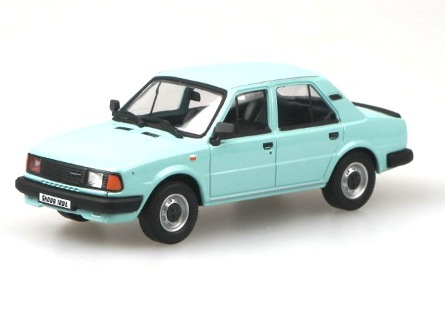 Skoda 120L (1984) Abrex 1/43 Azul CLaro
