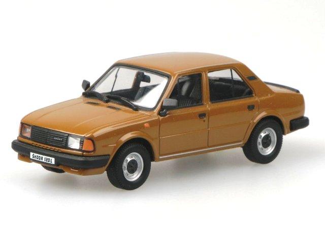 Skoda 120L (1984) Abrex 1/43 Marrón Tabaco