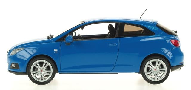 Seat Ibiza 3p. Serie IV (2008) Ixo 1/43 Azul Galia
