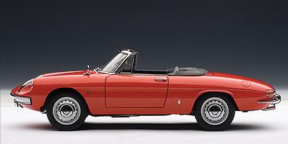 Alfa Romeo 1600 Duetto (1966) Autoart 1/18 Rojo