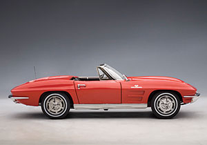 Chevrolet Corvette Convertible (1963) Autoart 1/18 Rojo