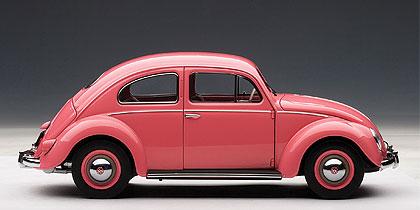 Volkswagen Escarabajo Limousine (1955) Autoart 1/18 Rosa