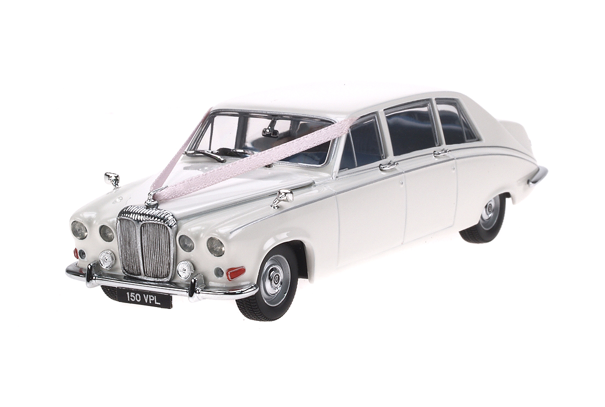 Daimler DS420 (1968) Oxford 1/43 Blanco Decoración Bodas