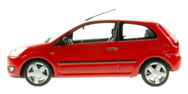 Ford Fiesta 3p. serie V (2002) Minichamps 1/43 Rojo