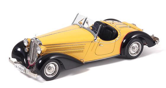 Audi 225 Roadster abierto (1935) CMC 1/18 Negro - Amarillo