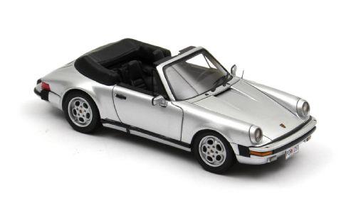 Porsche 911 Cabrio USA (1985) Neo 1/43 Gris Metalizado