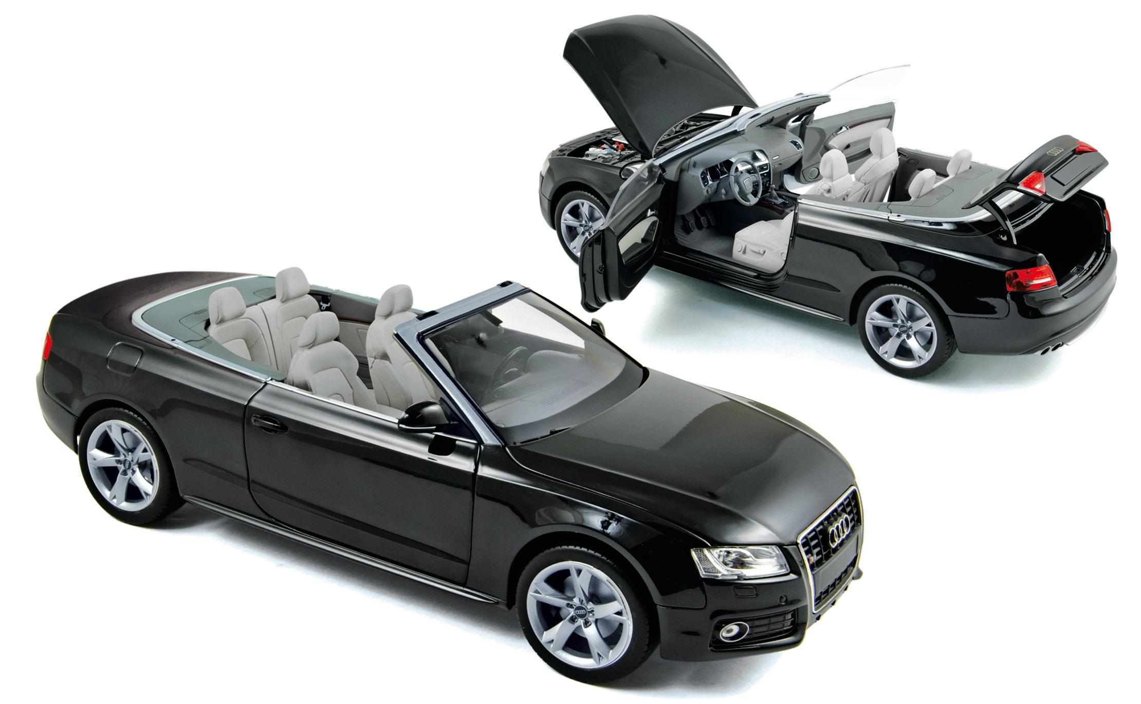 Audi A5 Cabriolet (2009) Norev 1/18 Negro