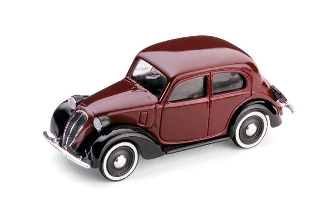 Fiat 1100 -508C- (1937) Brumm 1/43 Granate-Negro