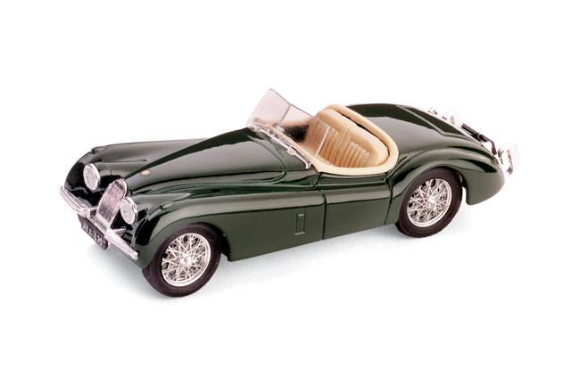 Jaguar XK120 Roadster Abierto (1948) Brumm 1/43 Verde Oscuro