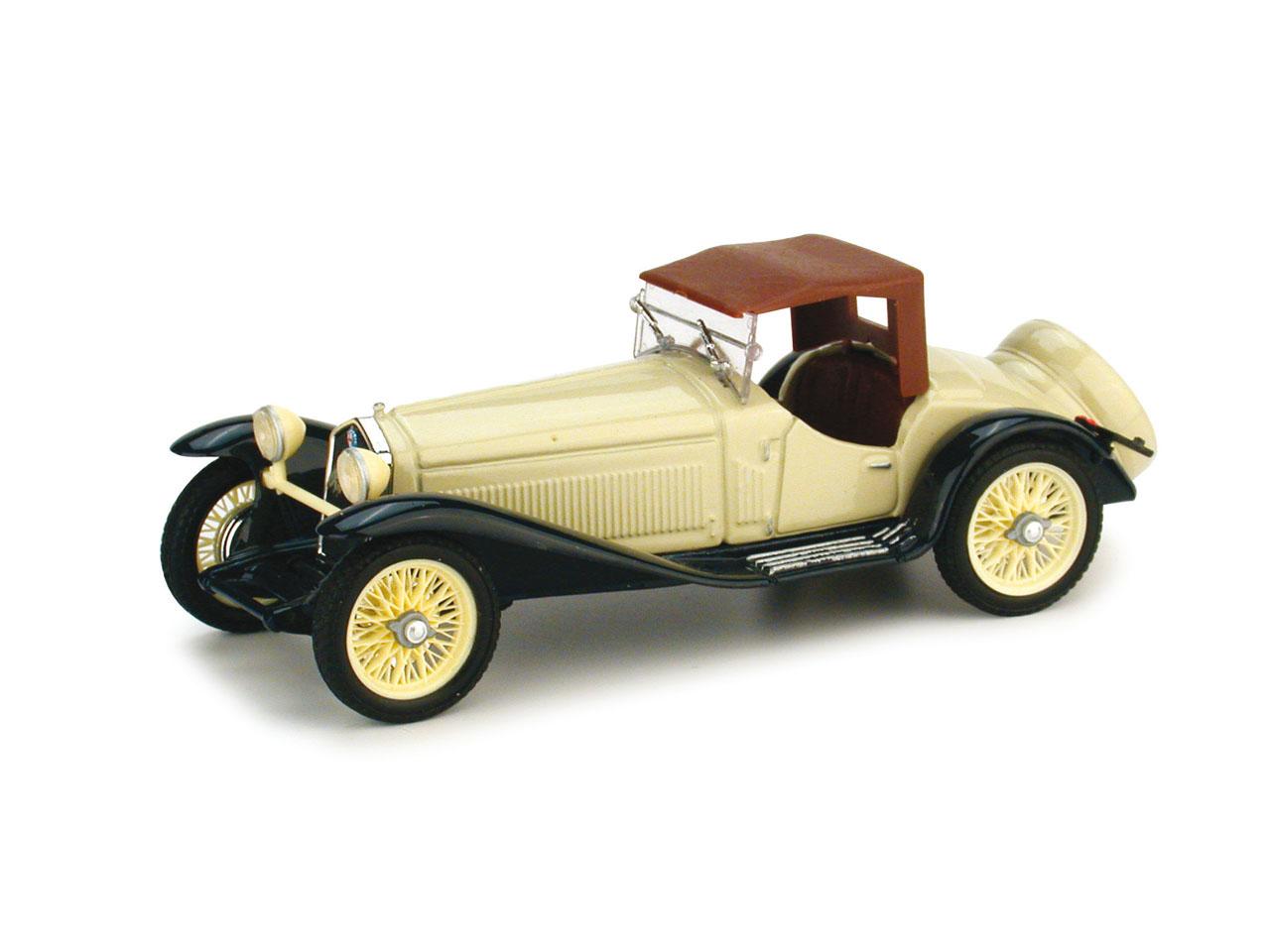 Alfa Romeo 2300 Cabriolet Cerrado (1931) Brumm 1/43 Beige-Azul Capota Cerrada