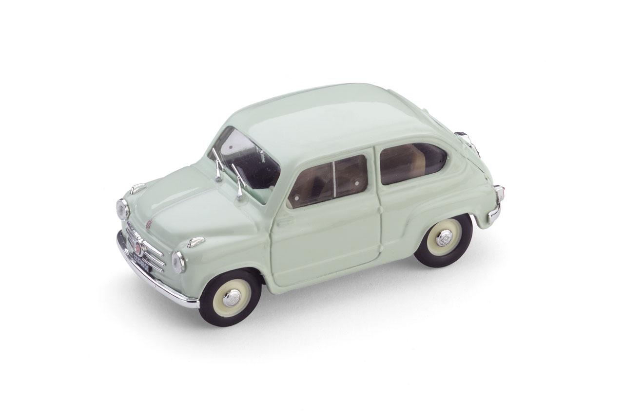 Fiat 600 1ª Serie (1955) Brumm 1/43 Verde Claro