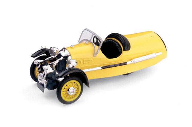 Morgan MX-4 Super Sport (1935) Brumm 1/43 Amarillo Capota Abierta