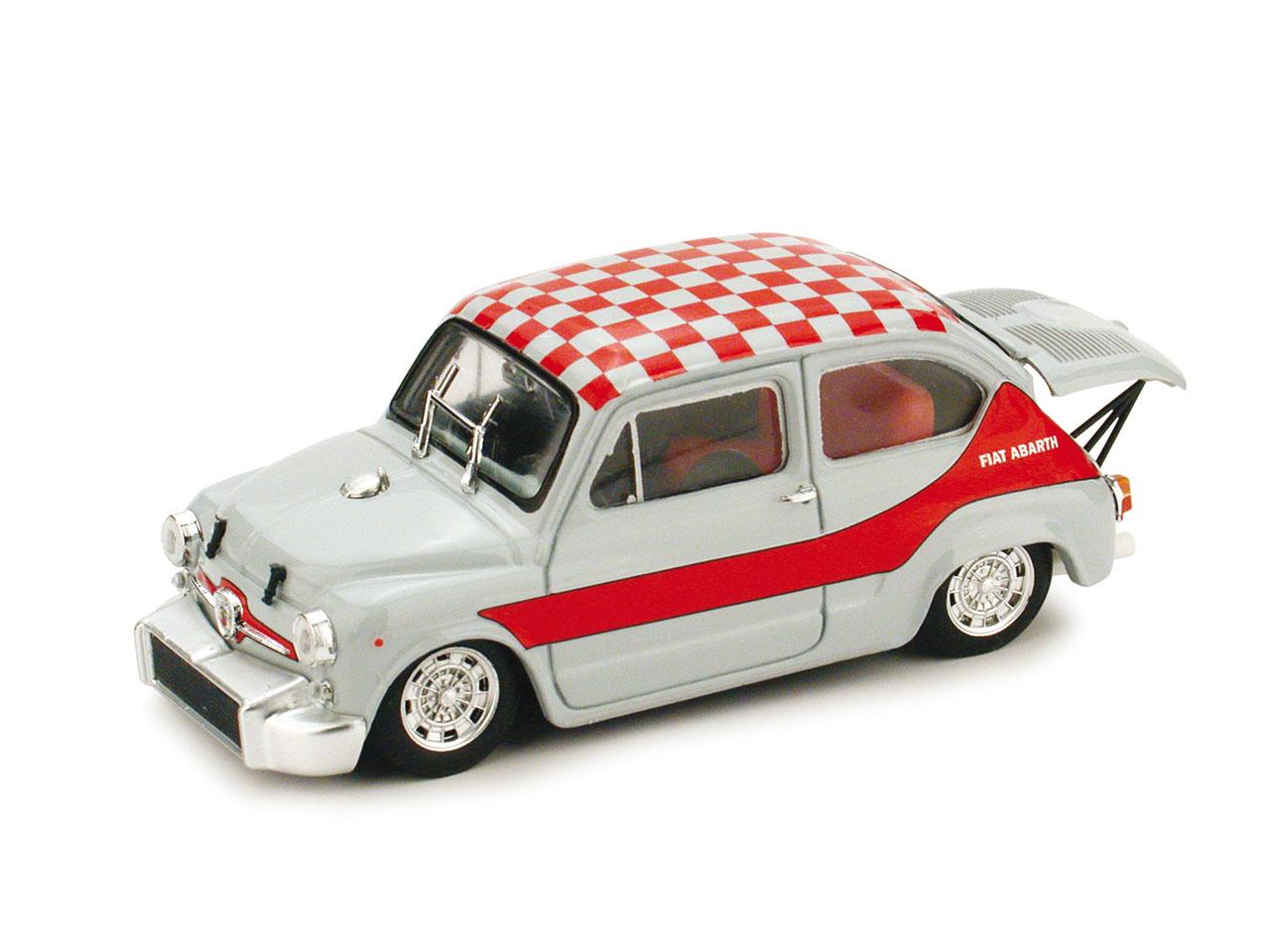 Fiat Abarth 1000 Corsa Gr. 5 (1968) Brumm 1/43 Gris - Rojo