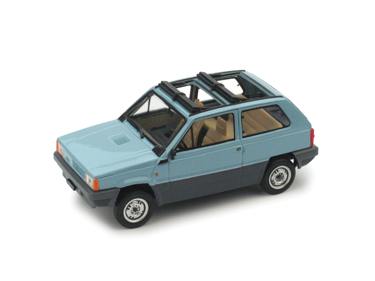 Fiat Panda 45 Techo de lona abierto (1981) Brumm 1/43 Azul Bahía