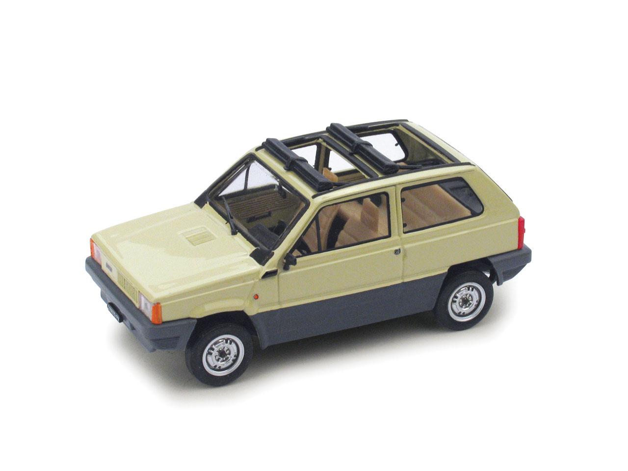 Fiat Panda 45 Techo de lona abierto (1981) Brumm 1/43 Blanco senegal