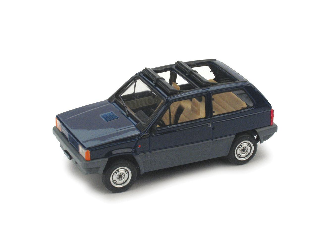 Fiat Panda 45 Techo de lona abierto (1981) Brumm 1/43 Azul Smalto
