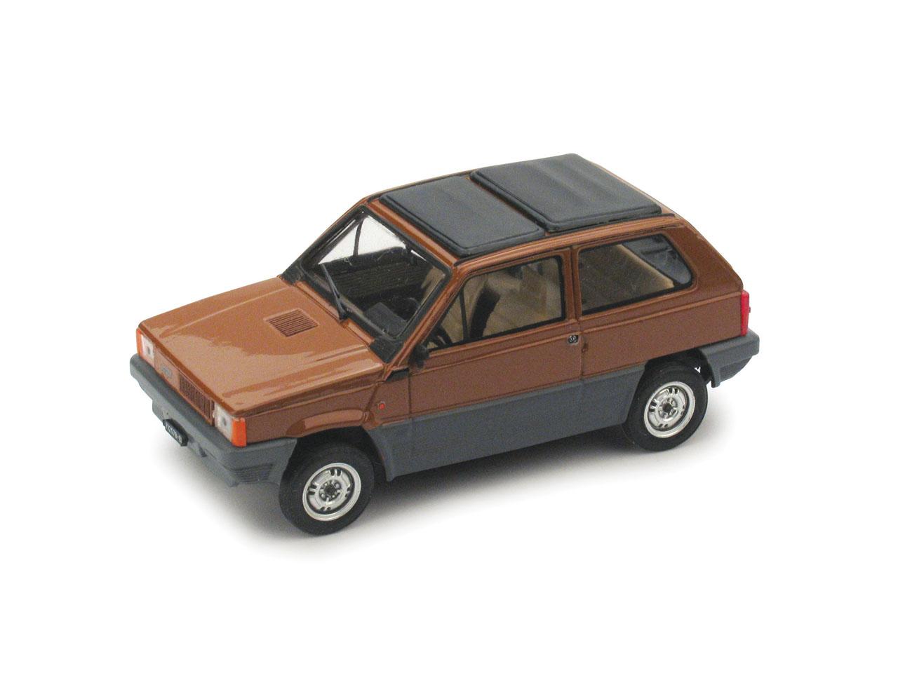 Fiat Panda 45 Techo de lona cerrado (1981) Brumm 1/43 Marrón Land
