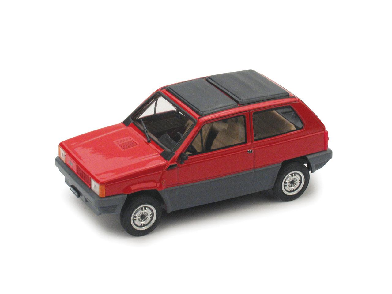 Fiat Panda 45 Techo de lona cerrado (1981) Brumm 1/43 Rojo Siam