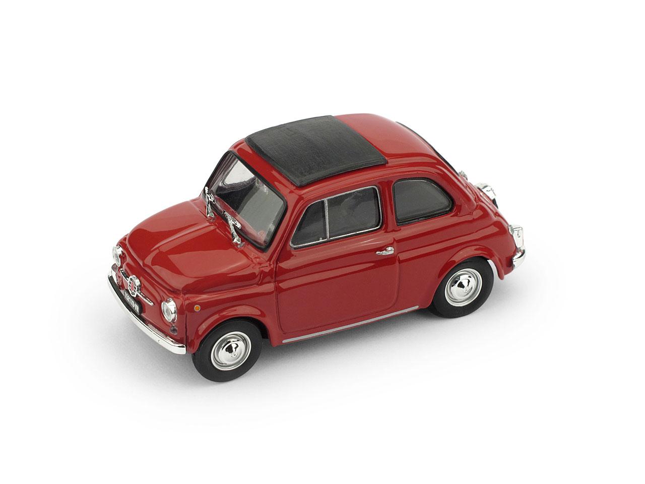 Fiat 500F Techo Cerrado (1965) Brumm 1/43 Rojo