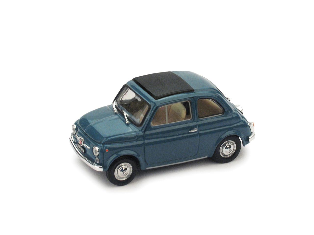 Fiat 500F Techo Cerrado (1965) Brumm 1/43 Azul