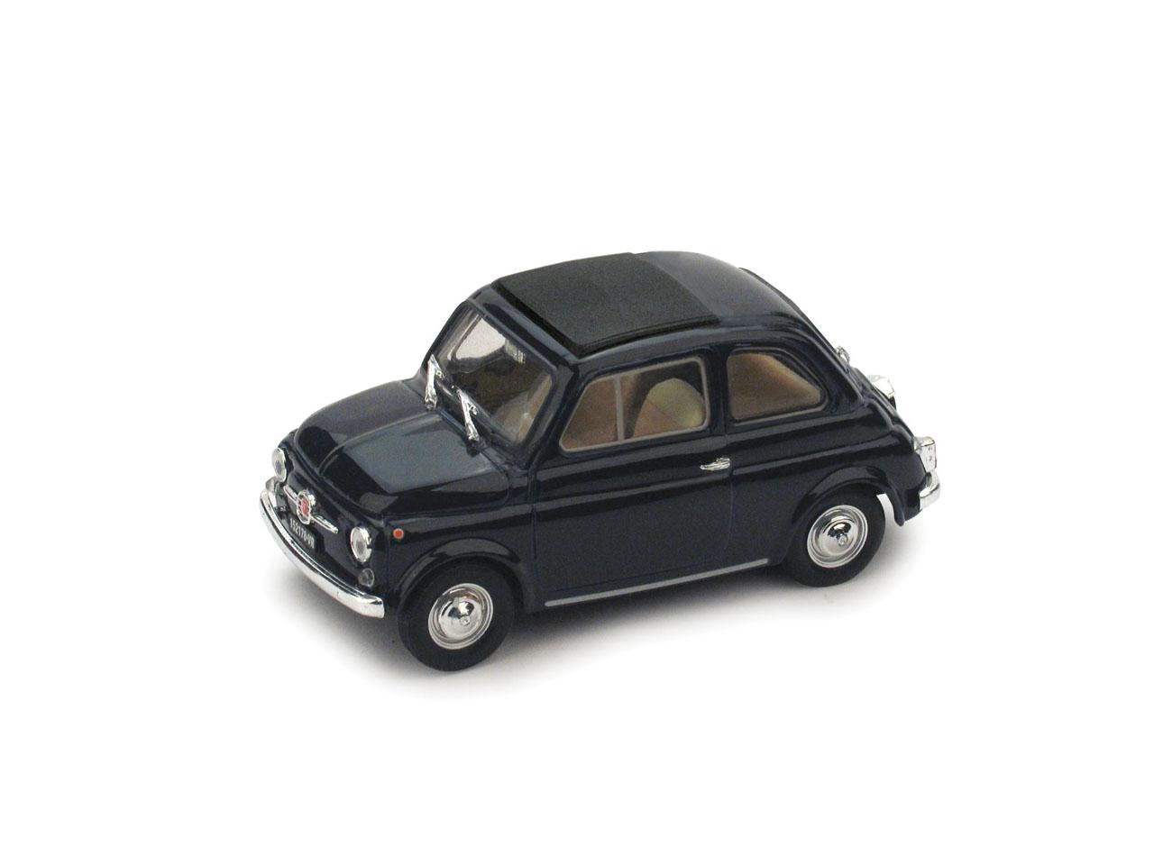 Fiat 500F Techo Cerrado (1965) Brumm 1/43 Azul Oscuro