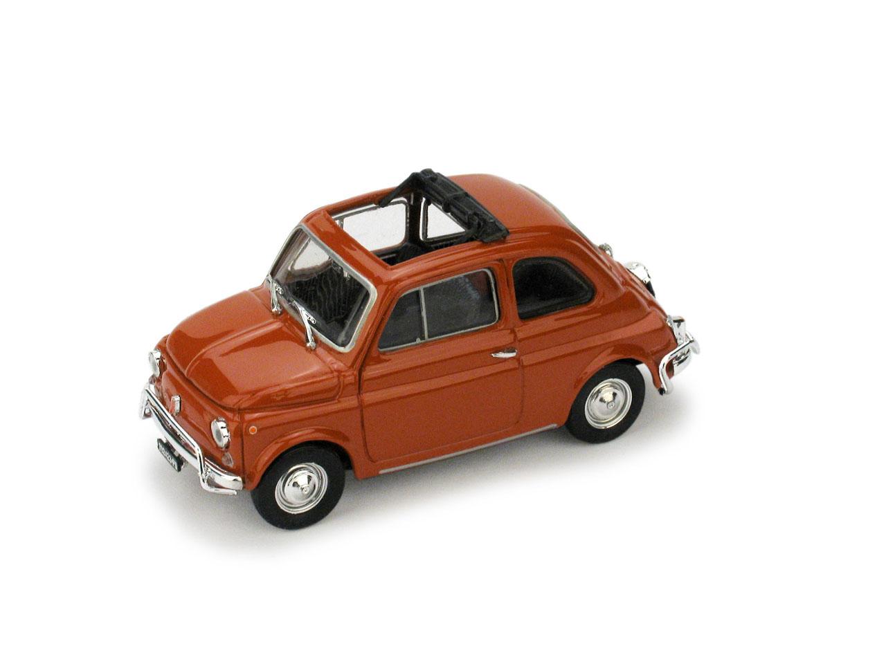 Fiat 500L Techo Abierto (1968) Brumm 1/43 Rojo Coral