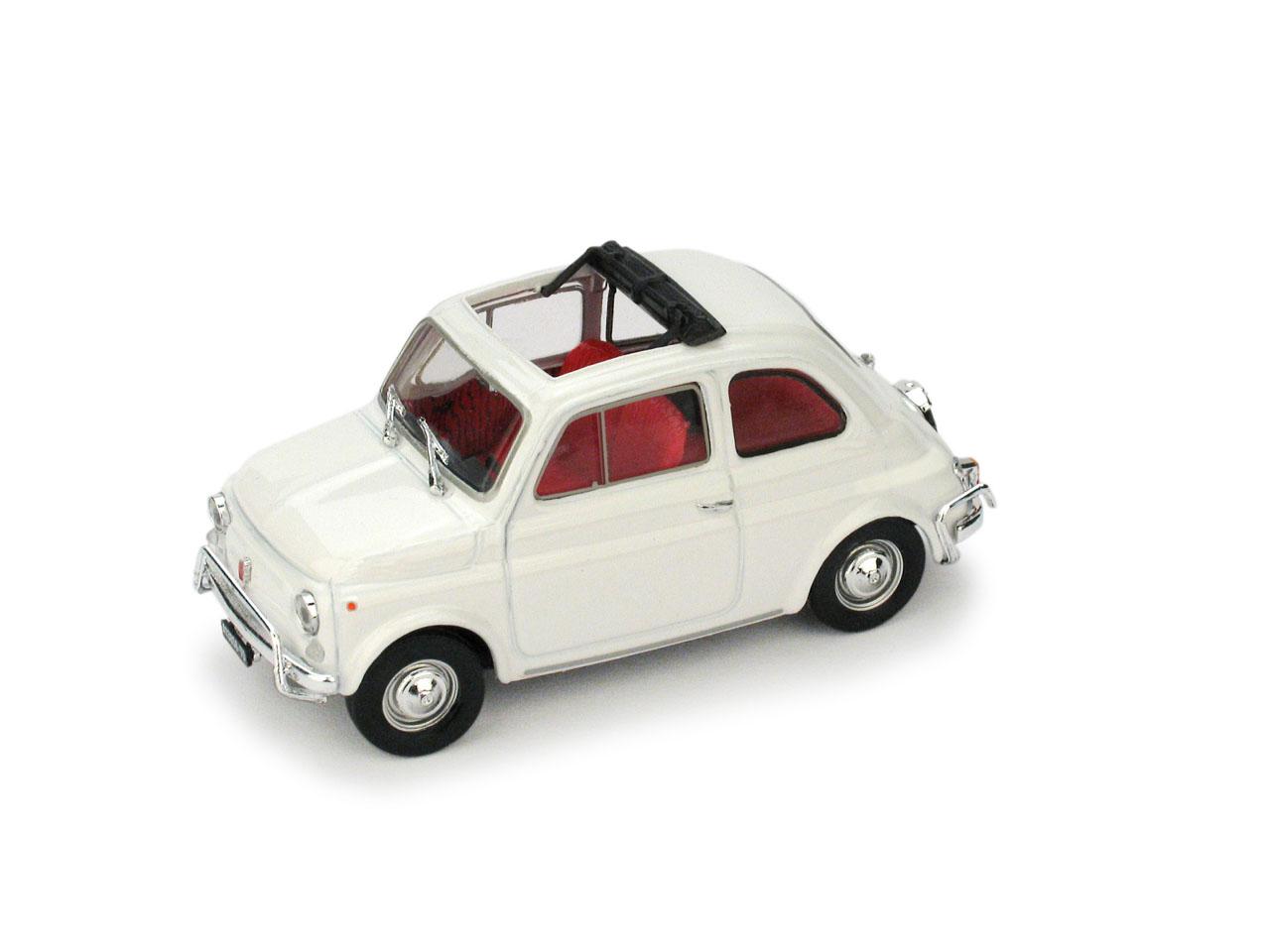 Fiat 500L Techo Abierto (1968) Brumm 1/43 Blanco Aurora