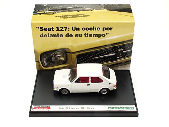 Seat 127 2p. (1972) Brumm 1/43 Blanco