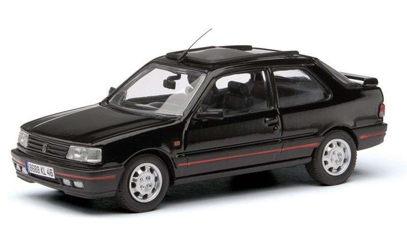Peugeot 309 GTi Mk2 (1987) Corgi 1/43 Negro Volante a la izquierda