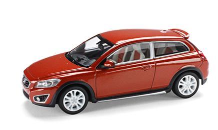 Volvo C30 (2007) MotorArt 1/43 Naranja Metalizado