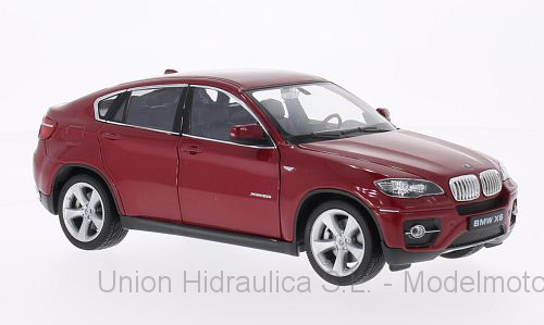 BMW X6 (2008) Welly 1:24 Rojo