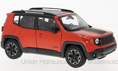 Jeep Renegade Trailhawk (2014) Welly 1:24 Naranja Pedido Cursado al Fabricante