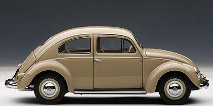 Volkswagen Escarabajo Limousine (1955) Autoart 1/18 Beige Brillante