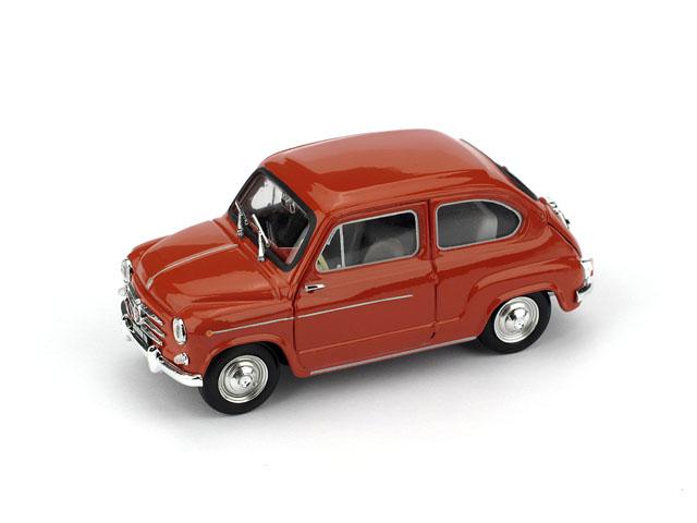 Fiat 600D (1960) Brumm 1/43 Rojo