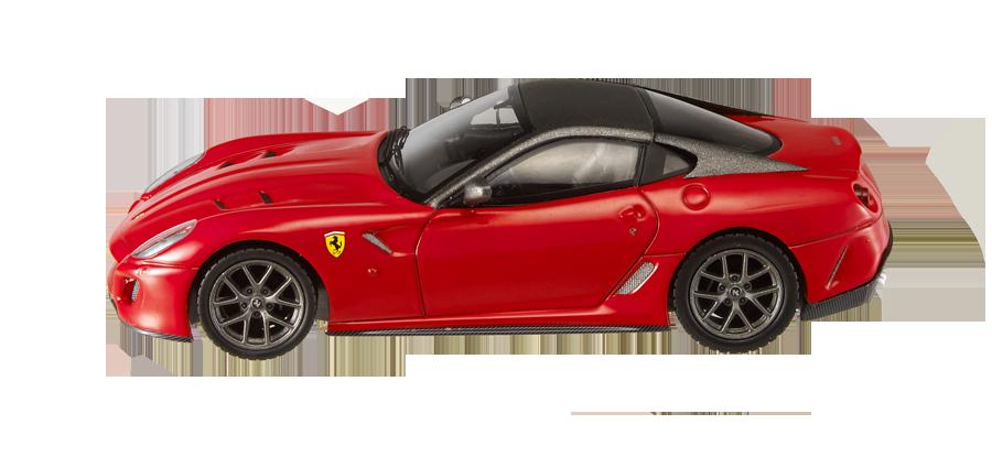 Ferrari 599 GTO (2010) Hot Wheels 1/43 Rojo Techo Negro
